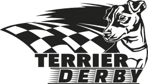 Black and White Terrier Derby Logo